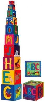 ABC BUILDING BLOCKS & BOARD BOOK SET