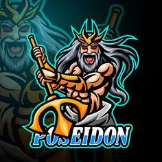 Game Logo Design, Esports Logo, Mascot Design, Vector Portrait, Drawing Techniques, Digital Illustration, Creative Art, Cartoon, Drawings