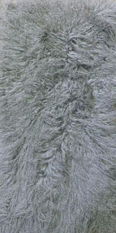 Light Grey Tibetan Lamb Rug