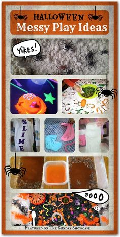 Halloween messy play