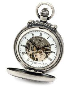 Charles-Hubert, Paris, Antique Silver Double Cover Mechanical Pocket Watch