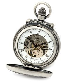 Charles-Hubert, Paris, Antique Silver Double Cover Mechanical Pocket Watch