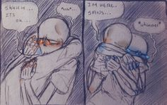 """Part 31 of 32 thelostmoongazer: """" Sans has really bad night terrors and Papyrus wakes up in the middle of the night to comfort him (even tho he's really confused and disoriented)"""