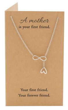 Lorna Infinity Heart Lariat Mothers Necklace, Mothers Day Jewelry,  - Quan Jewelry - 4