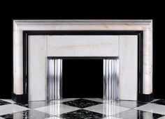 Art Deco Fireplace in Marble