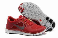 quality design 75292 c5c59 Nike Free Run 3 University Red Reflective Silver Pro Platinum Running Shoes  St Louis Nike Free