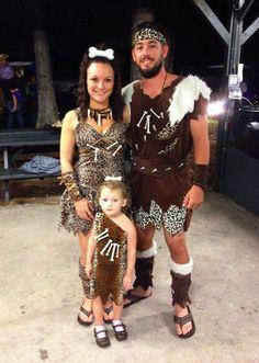 Family halloween costume, caveman family, halloween costume ideas, kids halloween costume