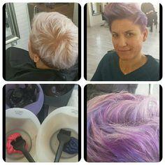 #pink #mint # violet #hair