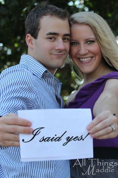 Creative way to announce an engagement