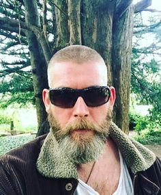 Beard And Mustache Styles, Beard Styles For Men, Beard No Mustache, Hair And Beard Styles, Shaved Head With Beard, Bald With Beard, Red Beard, Thick Beard, Bald Men