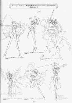 Naoko Takeuchi sketches.