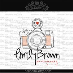 sketched vintage camera logo