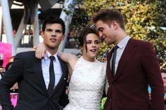 Kristen Stewart, Taylor Lautner and Robert Pattinson at event of The Twilight Saga: Eclipse