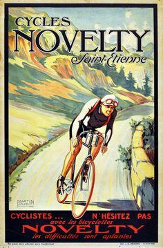 Original Vintage Posters -> Sport Posters -> Novelty Cycles Tour de France - AntikBar