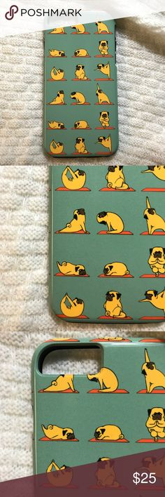 iPhone 6 | Pug Yoga Tough Case What's better than pugs doing yoga?! Very adorable pug yoga tough case from Society6. Selling because I ordered the wrong size phone case. Brand new, never used. Fits iPhone 6 only. Accessories Phone Cases
