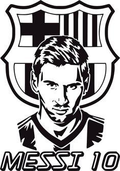 Barcelona Fc Logo, Lionel Messi Barcelona, Joker Stencil, Stencil Art, Messi Drawing, Batman Silhouette, Black And White Art Drawing, Lionel Messi Wallpapers, Black And White Stickers