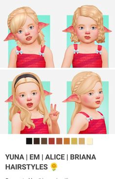 The Effective Pictures We Offer You About toddler hairstyles girl fine hair A quality picture can te Sims 4 Ps4, Sims 4 Game, Little Girl Hairstyles, Toddler Hairstyles, Toddler Makeup, Sims 4 Characters, Short Hair Up, Sims 4 Toddler, Play Sims