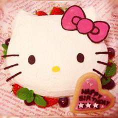 初めてでも簡単!キティ誕生日ケーキ♡