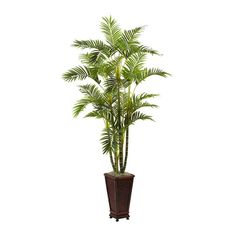 Artificial Areca Palm With Decorative Planter - 6.5 Feet Tall -- More info could be found at the image url.