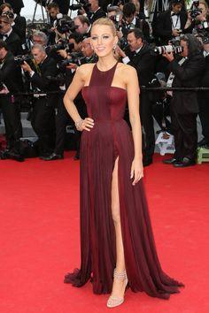 Pin for Later: Blake Lively Se Prépare Pour le Festival de Cannes  Portant une robe Gucci en 2014.
