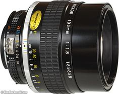 Nikon 105mm f/1.8, tried once, me-want!