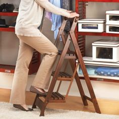 3 Step Folding Stool. Good for high kitchen cabinets. Improvementscatalog.com & 3-Step Folding Stool $99.99 @ improvements.com folds to 2 inches ... islam-shia.org