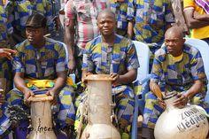 Drums playing in Benin