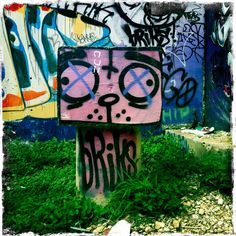 Castle hill graffiti art in Austin TX