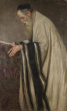 Reading the Talmud - Ignaz Schoenfeld ~ 19th century