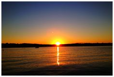 Harpswell Sound Maine sunset