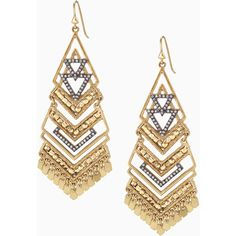 Stella & Dot Horizon Statement Earrings ($49) ❤ liked on Polyvore featuring jewelry, earrings, dangle chandelier earrings, vintage jewelry, stella dot jewelry, dangle earrings and vintage chandelier earrings