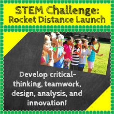STEM Challenges: Rocket Distance Launch STEM Activity (Science, Technology, Engineering, Math):STEM activities and challenges are great for developing critical-thinking, teamwork, design, analysis, innovation, and other skills important for young scientists, mathematicians, engineers and all other students as well.STEM activities of this nature encouraged me to become an engineer, and I have reviewed and developed hundreds of STEM challenges with elementary teachers to select those that…