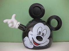 Mickey Mouse Tea Pot Kettle Enamel~full face Copco Enamelware Teapot  /- great souvenir from Disneyland