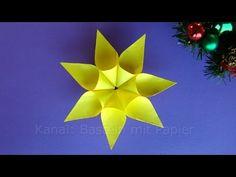 Weihnachtssterne basteln - Weihnachtsdeko - Sterne basteln mit Kindern Weihnachten - YouTube