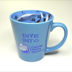 Dive Into Mug #fish #ocean #coffeecup #mug