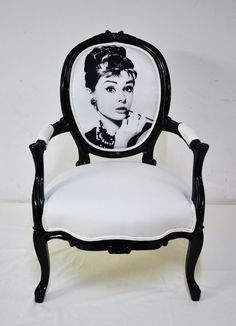Love these! audrey hepburn vintage armchair by namedesignstudio on Etsy!