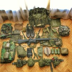 """So, when you see the gear you used to carry in the suck described as """"Old School. Tactical Wall, Tactical Gear, Tactical Equipment, Military Equipment, Edc, Special Forces Gear, Molle Gear, Army Gears, Vietnam War Photos"""