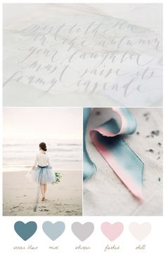 Color Palette: Winter Blues + Mist - from The Sweetest Occasion