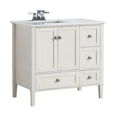 Photo Gallery For Photographers Chelsea Inch Soft White Left Offset Bath Vanity with White Quartz Marble Top