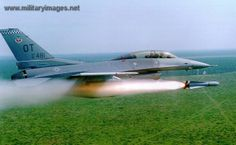 Air Force F-16 Fighting Falcon Firing Maverick Missile