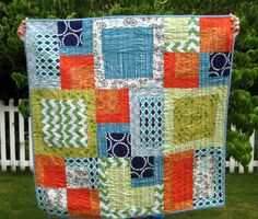 """Quilty Habit: """"Summer Fun"""" - A Finished Baby Quilt"""