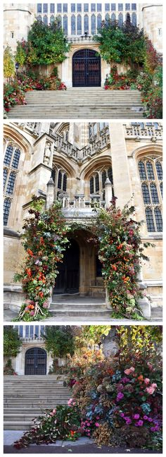 Princess Eugenie of York and Jack Brooksbank opted for an autumnal floral display by Rob Van Helden at their royal wedding compared to Prince Harry and Meghan Markle's white-themed floral display by designer Philippa Craddock. Colorado Wedding Venues, Best Wedding Venues, Autumn Wedding, Church Wedding, Rustic Wedding, Princesa Eugenie, Princess Eugenie Jack Brooksbank, Botanical Gardens Wedding, Garden Wedding