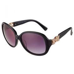 ad236a05fe08 Hermes Oversized Round Frame Black Sunglasses 308097 Smart Buy