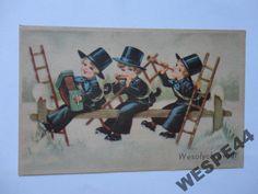 WESOLYCH SWIAT KOMINIARZ 20703 Old Postcards, Polish, Baseball Cards, Vitreous Enamel, Nail Polish, Nail