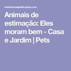 Animais de estimação: Eles moram bem - Casa e Jardim | Pets
