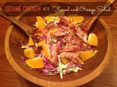 Sesame Chicken With Fennel and Orange Salad. Bring on Spring!!