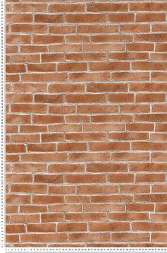 Briques rouges  - Papier peint Aquamura de Lutèce #wallpaper #redbricks http://www.papierspeintsdirect.com/papier-peint/styles-effets-de-matieres.html