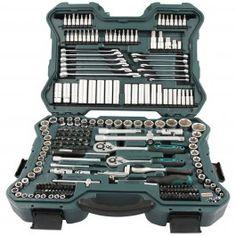 Maletín para herramientas Mannesmann de fabricación alemana, que contiene 215 piezas de llaves de vaso, puntas y carracas en acero cromo-vanadio indeformable.