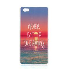 Colorful Printing Soft TPU Back Case for Huawei Ascend P8 Lite- Sunrise