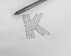 Monogram K #letter #monogram #design #newyorkcity #logo #k #capital #english #M #MA #designer #graphicdesign #calligraphy #word #monochrome #photoshop #mark #design #illustrator #swag #style #mode #white  #love #pen #instacool #amazing #statueofliberty #logoinspirations